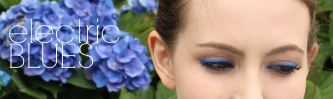 electric blues makeup by MOREMORE CREATIVE